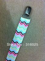 Rainbow chevron Pacifier Clip Holder,dummy clip +free shipping