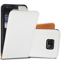 High Quality Flip PU Leather Case Cover with Magnet Clasp for Samsung Galaxy S2 i9100,Black White Drop Shipping