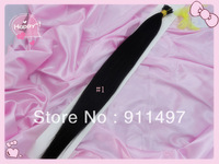 "100% Brazilian Remy Hair Straight Human Hair 18""20""22""24""  #1 #1b #2 I-tip Pre-bonded Hair Extensions 100s/lot 1g/s in stock"