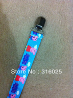 Boys collection pig Print  Monogram Pacifier Clip Holder,dummy clip +free shipping
