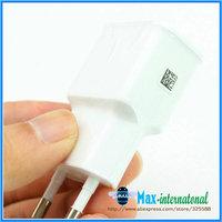 Hot  ETA0U90EWE 5V 2A EU Travel Adapter AC Wall Adapter Charger Home Charger For Samsung S4 I9500 N7100 i9300 i9220 White10pcs