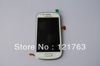 Original For Samsung Galaxy S III mini i8190 White Replacement Assembly Full LCD Display Lens With Digitizer Touch Screen