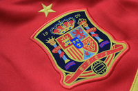 2013-2014 Spain soccer jacket,red,S-XL.