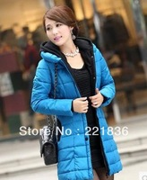 Free Shipping The new dress in long cotton-padded clothes with thick coat