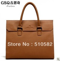"""GSQ"" New Fashion Man's  elegant business Genuine  leather handbag/Messenger Bag ,Blown Color for your choice , 8923 - 1"