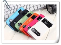 Flip Leather Case S View Wake Sleep Cover Crystal Double Open Window Case for iPhone 5C