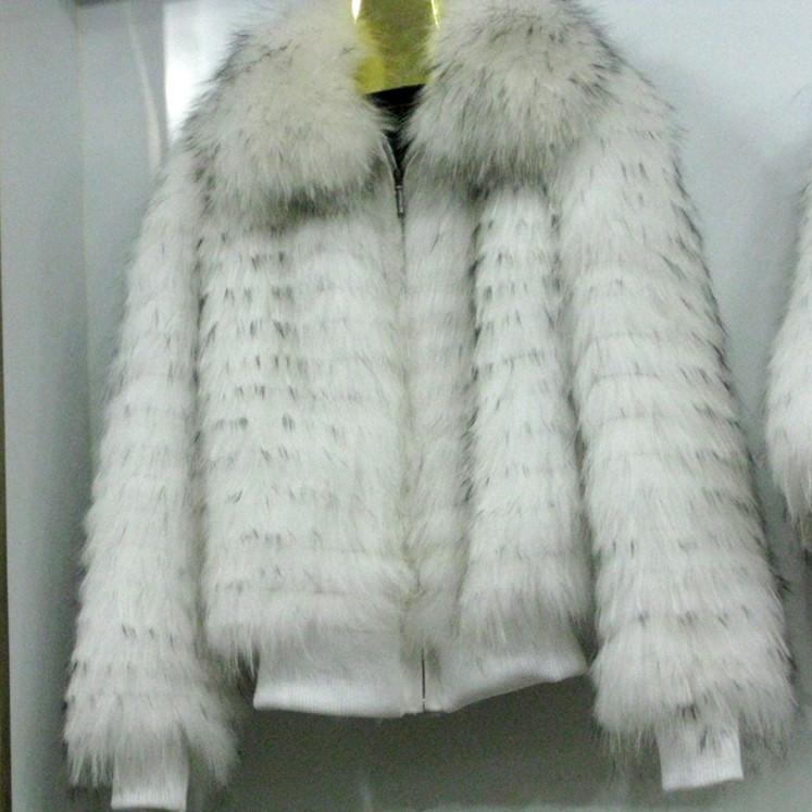 Raccoon Fur Coat Women Fur Clothing In Winter Real Natural Raccoon Coats Winter Long Sleeves Free Shipping BF-C0108(China (Mainland))