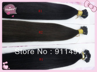 "Hot hair 18""-24"" 100% Brazilian Virgin Remy Hair Straight Hair #1 #1b #2 I-tip Pre-bonded Hair Extensions 100s/lot 1g/s in stock"