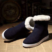 Winter thermal the trend of male snow boots suede casual Boots fashion zipper cotton shoes, free shipping!