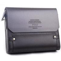 2014 Fashion POLO man briefcase male PU leather shoulder messenger bag commercial casual handbag horizontal,Free shipping