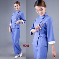 (10set-free ship) Medical  work wear clothing nurse clothing nurse clothing h005  Beauty care Club work uniforms