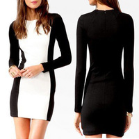 CD005# CD005# Autumn -summer Dresses New Fashion 2013 Womens Casual Dress Slim Long Sleeve Evening Dresses