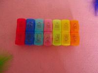 Airmail ship fashion Multicolour kit 7 kit cut 14 medicines the elderly  pill case dispenser