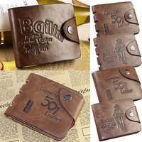 Western Men's Men's Vogue Pockets Purse Fashion Brown PU Leather Wallet Cowboy's Card Pockets Purse  #L09243