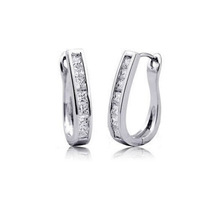 Classic U shape CZ Clip on Earrings CE006