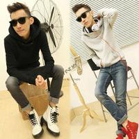 3pcs/lot Men's New Stylish Fashion Slim Hooded Coat Thick Hoodie Sweatshirt Coat 3 Colors 3 Sizes Drop shipping 16922