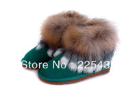 Free Shipping 2013 winter fashion warm thermal fox fur snow boots women boots Direct marketing 6 colors