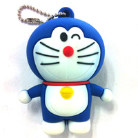 Lovely Cartoon Characters Doraemon Lift your hands blue jingle cats shape USB 2.0 memory stick Flash Drive 2G/4G/8G/16G/ 32G