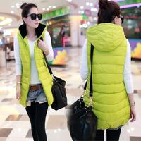 Женские пуховики, Куртки 2013 winter slim medium-long wadded jacket outerwear women's plus size PU thickening cotton-padded jacket