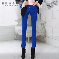 autumn and winter 2013 flare slim casual blue women's trousers