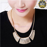 Vintage Metal Snake Chain Half Pattern Polygonal Chokers Necklace Free Shipping 2013 New Arrival (No.00676-1) Min Order $10