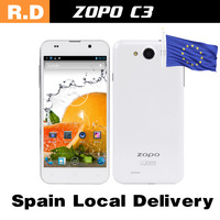 Spain Local Delivery to Europe Lightning DHL Shipping  5.0''ZP  ZOPO C3  MTK6589T Quad Core FHD 1920*1080 13MPCDMA GSM Daul SIM