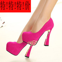 High-heeled shoes sexy princess metal decoration platform princess single shoes 2013 autumn