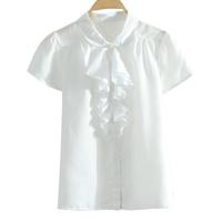 2013 summer multicolor peter pan collar baimuer fronts short-sleeve cotton blouse cardigan shirt