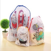 Waterproof lucky tote travel drawstring storage bag classification shoes finishing laundry bag,Bean bag Three Size 3pcs/lot