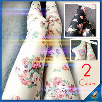 2013 New Korean women warm Denim Leggings roses wholesale Slim thin fashion leggings pants Free shipping
