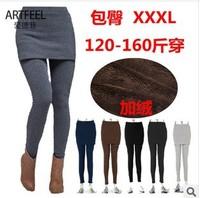 New 2013 False Two-piece Thicken Fleece Legging Pantskirt Women's Fashion Leggings With Mini Skirts  Big Size Leggings XL-XXXL