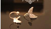 Angel wings ear clip mini invisible earrings non pierced ear cuffs boys and girls U ear earring jewelry wholesale LM-C116