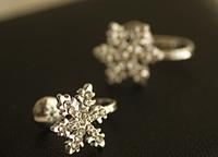 Fashion sweet joker refinement flash drilling Snowflake No pierced u-ear clip Ear cuff   LM-C118