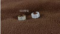 ear cuff  Boutique fashion sweet three rows flash drilling single no pierced ear clip  LM-C161