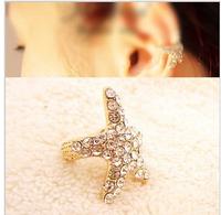 Fresh ear clip cute sweet fashion personality luxurious Over drilling starfish No pierced ears ear bones clip LM-C151