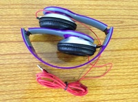 10pcs/lot Purple Color Best Quality Headphone Hot Selling Headphone for Samsung for HTC Drop Shipping Childrens' Christmas Gift