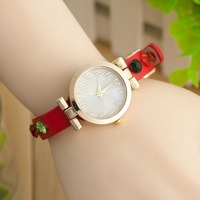 W51 2013 New Wholesale Fashion Colorful Rhinestone High Quality PU Leather Women Quartz Watch