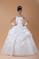 Hot 2014 bright  Shine Satin Fabric Bridal Dresses Gowns Tube-top slim Flower Wedding Dress Zipper free customize new size