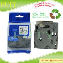 2pcs TZ2-231 tz tape 12mm laminated white