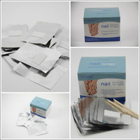 Freeshipping- Quick & Easy Gel Polish Removal Foil Nail Wraps Soak-off Gel Nail Wraps 50pcs / box