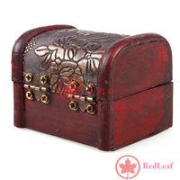 [Hot] Vintage Jewelry Pearl Necklace Bracelet Gift Box Storage Organizer Wood Case 01 wholesale