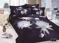 3d oil painting reactive print 100% cotton bedding set