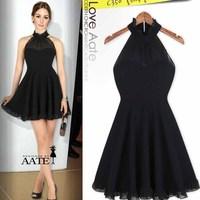 Fashion women's 2013 slim sexy halter-neck one-piece dress gauze skirt strapless 2905