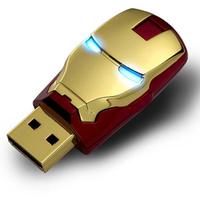 Luminous IRON MAN Model Flash Memory 2GB 4GB 8GB 16GB 32GB Stick Pen Drive Keys Disk USB 2.0