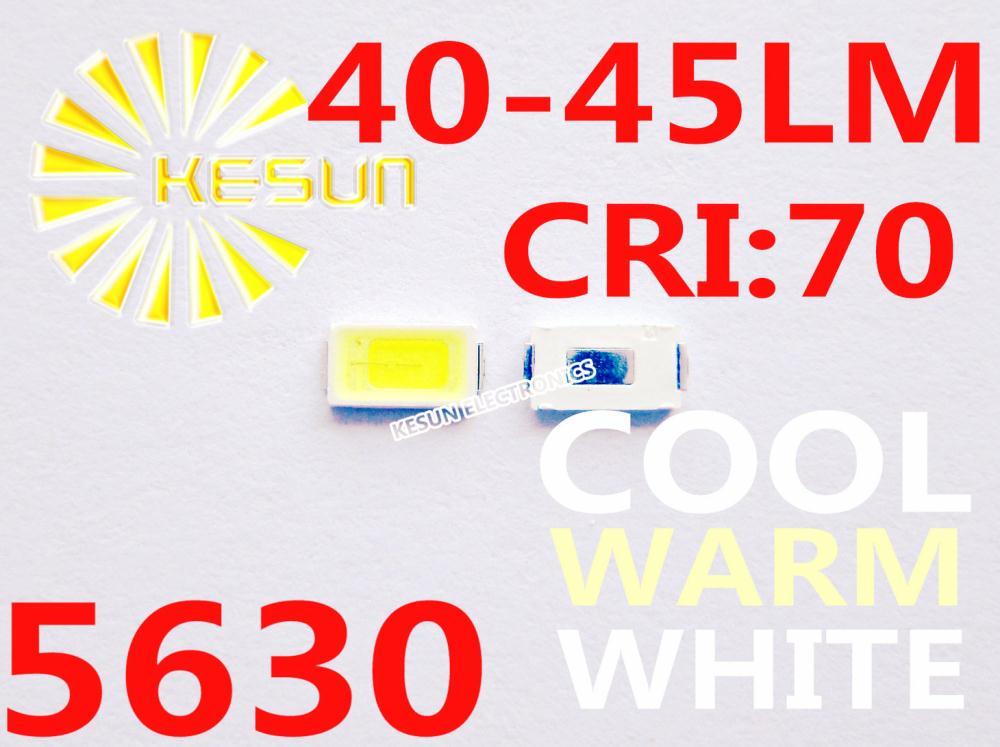 3000PCS 5630 0.5W 40-45LM Cool Warm White Ultra Bright SMD LED Indication(China (Mainland))