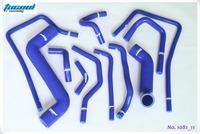 Free Shipping Silicone Radiator Hose Kit for Subaru Impreza WRX STi GDA GDB 00-07 1081 11pcs Blue