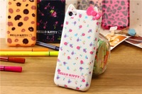New Arrival Cute Hello Kitty colorful Hard back cover case for iphone 5C,Girls love case Free Screen Protector