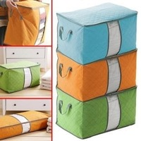 Colorful bamboo charcoal non-woven Large quilt Visual of clothing storage bag storage box sorting bags storage bags