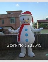 Redcap snowman mascot costume for adults