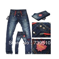 Free Shipping retail(1piece) fashion 2013 high quality Nostalgic retro beggar hole cotton DI brand men's jeans 8009